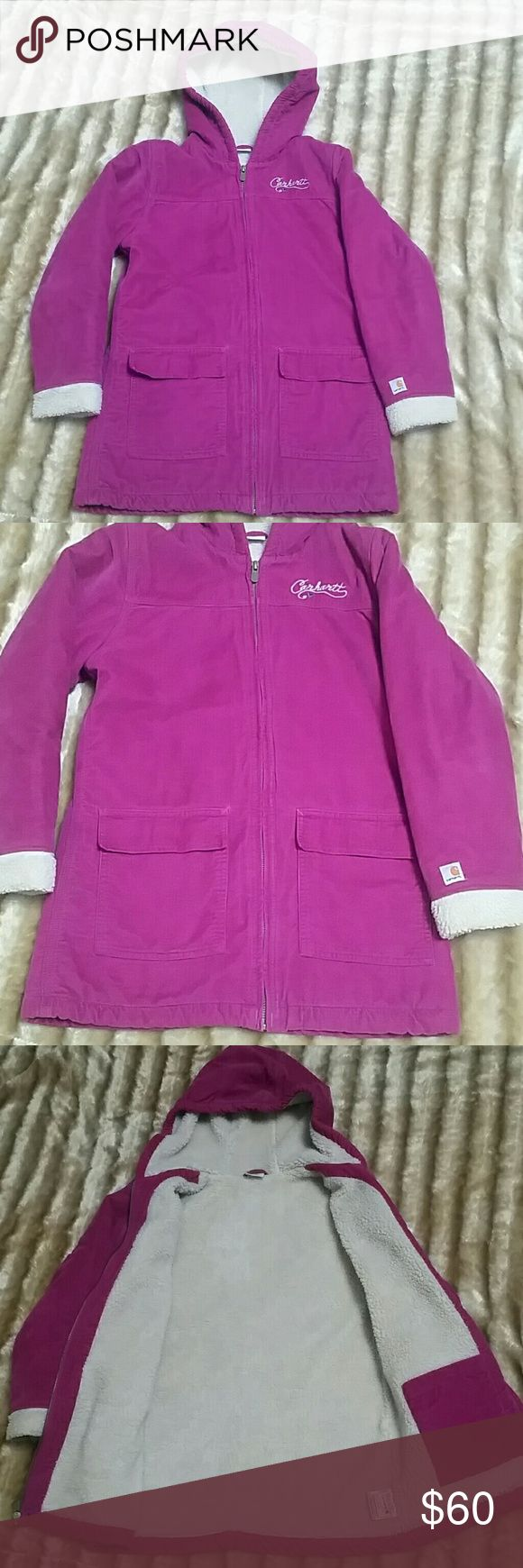 Beautiful Carhartt Coat Kids Carhartt Coat.  Size Large 12. Like new. Perfect condition! Not only is this jacket so warm, but it's so beautiful and so soft!  The color is magenta. Carhartt Jackets & Coats
