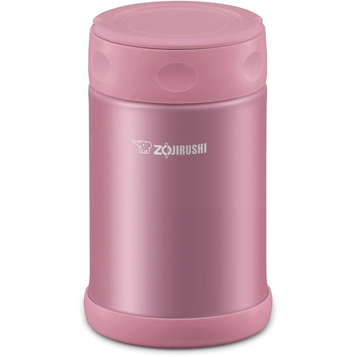 Zojirushi Stainless Steel Food Jar (Zojirushi Slick Steel Food Jary 17 oz Pink) (Metal)