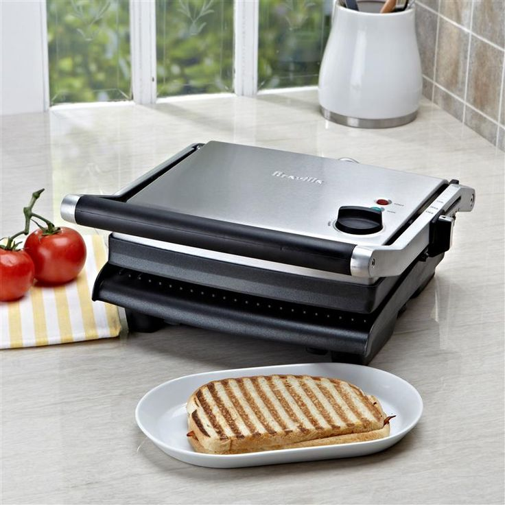 Use the Panini Grill for a savory smoked chicken panini with crispy pancetta, or for sweet treats like mascarpone and amaretti. With the adjustable height control, you can grill delicate ingredients such as fish and hamburger buns without squashing. The ribbed, non-stick cooking plates offer a 115-square-inch cooking surface to accommodate steaks and Artisan breads. And the extendable feet can be flipped forward to level the bottom cooking plate, or flipped backwards to angle the bottom…