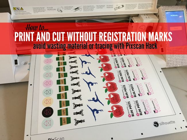 If you're like me you save every scrap of material you cut...and it probably makes you crazy that Silhouette print and cut registration marks result in so much wasted space! This is a sponsored post,