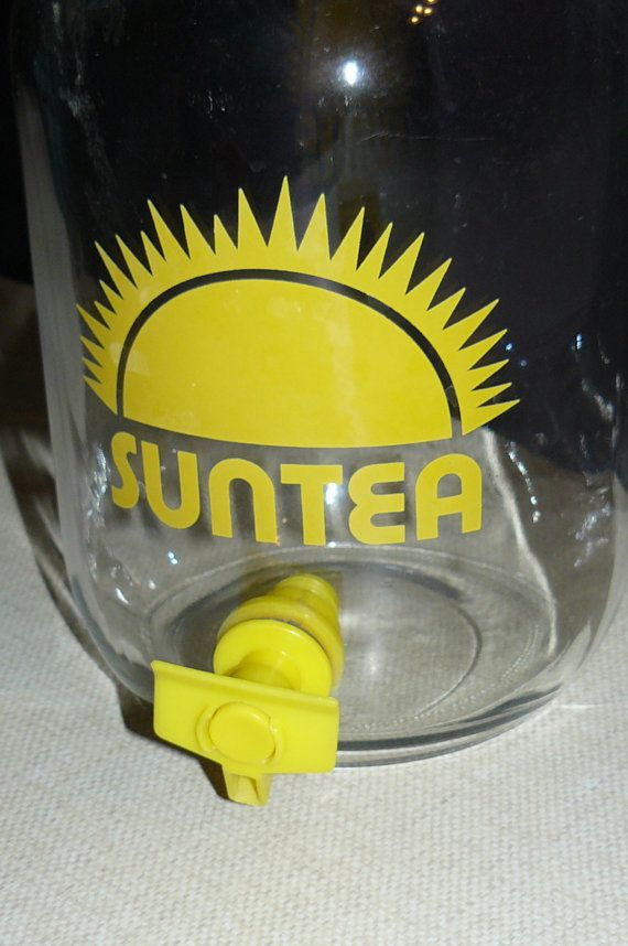 Vintage Sun Tea Jar by OffTheChainVintage on Etsy, $16.00