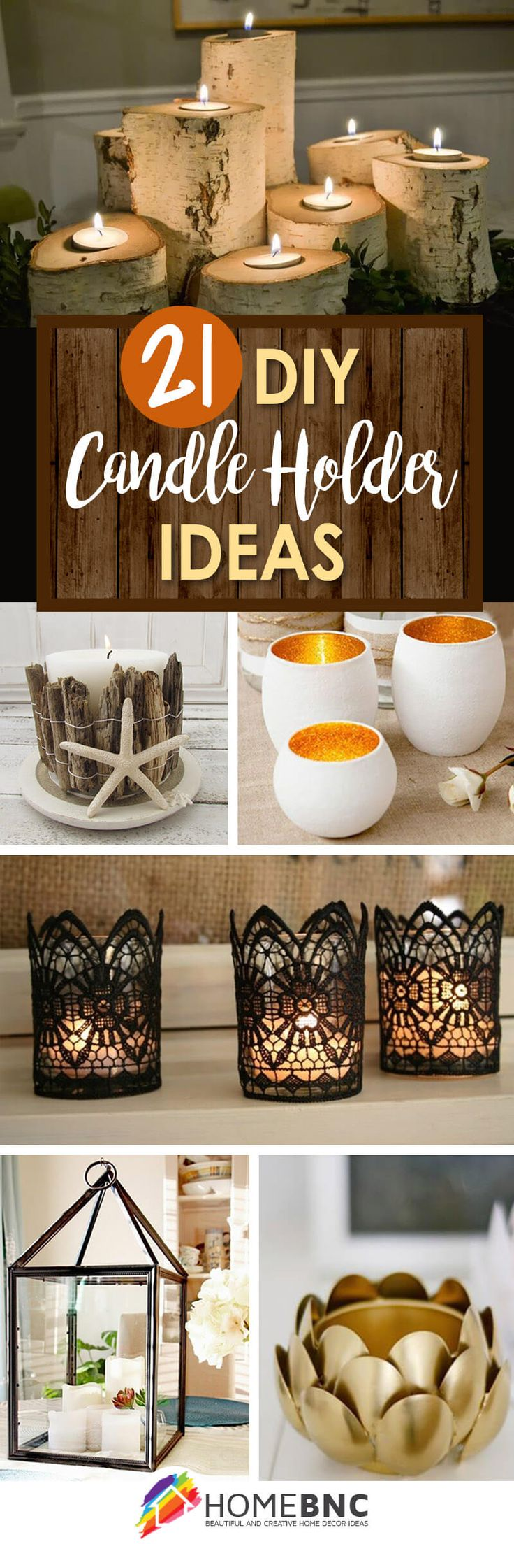 best 25 diy candle holders ideas on pinterest diy. Black Bedroom Furniture Sets. Home Design Ideas