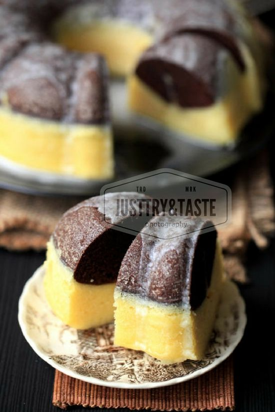 chocolate & cheese layer steamed cake