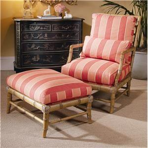 Century Century Chair Matching Coastal Chair and Ottoman - Baer's Furniture - Chair & Ottoman Boca Raton, Naples, Sarasota, Ft. Myers, Miami, Ft. Lauderdale, Palm Beach, Melbourne, Orlando, Florida