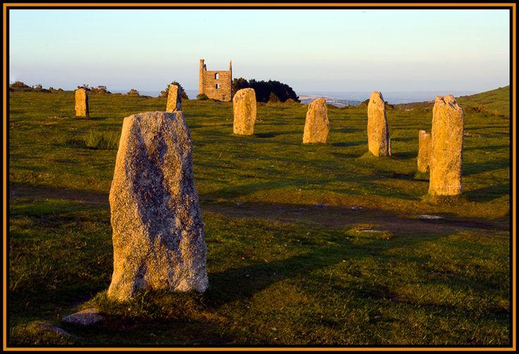 The Hurlers on Bodmin Moor, Cornwall England