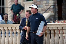 Phil Mickelson with the trophy for the 2007 Players Championship
