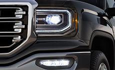 LED headlamps on the 2016 Sierra 1500.