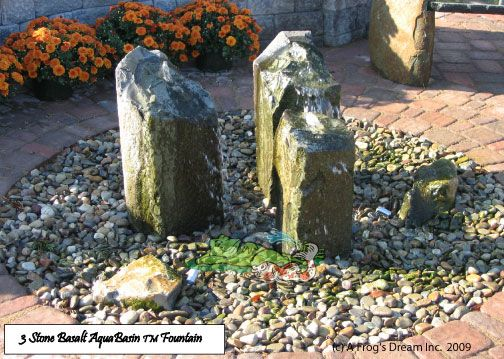 Basalt Fountainscape http://afrogsdream.com/fountainscapes/  http://www.houzz.com/projects/819440/fountainscapes http://www.hometalk.com/6075038/fountainscapes-frog-s-dream-aquatic-services https://www.youtube.com/watch?feature=player_detailpage&v=zYv2HELd0m8