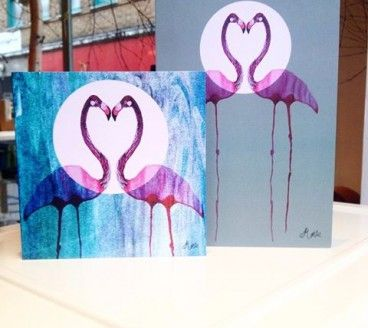 Bespoke hand-illustrated cards, designed for Valentine's Day