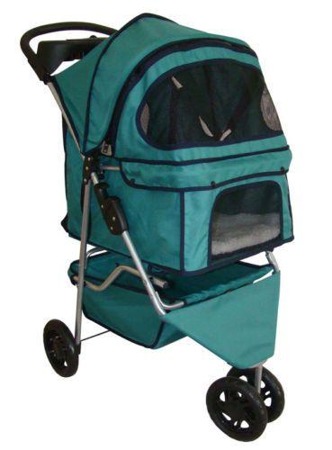 BestPet 3 Wheels Pet Dog Stroller