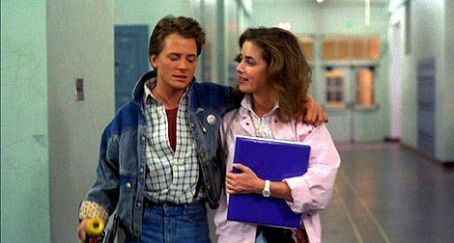 Marty McFly - Michael J. Fox and Claudia Wells in Back to the Future (1985)