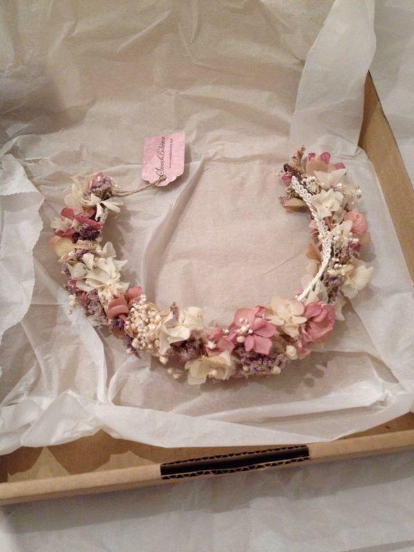 Corona de flores naturales ideal!!!!