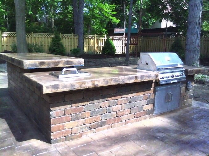 55 best images about bbq pit on pinterest backyards for Block outdoor kitchen