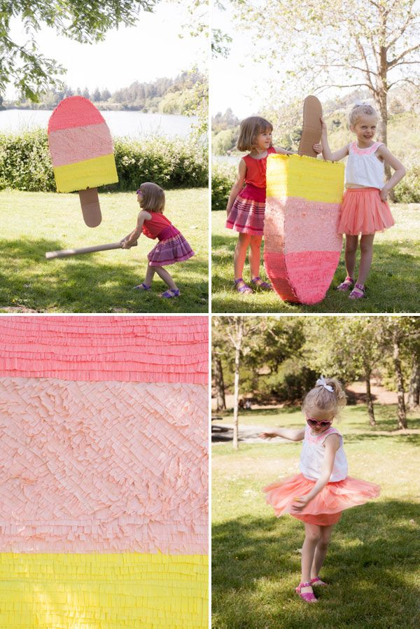 Giant Popsicle Pinata DIY | Oh Happy Day!
