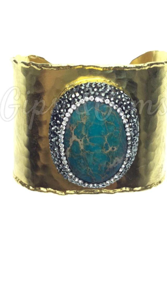 Gipsy&Gems statement turquoise bracelet