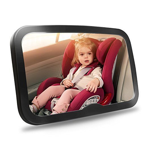 Baby Car Mirror Safety for Rear Facing Infant Wide Crystal View Car Seat Mirror #CarSeatMirror