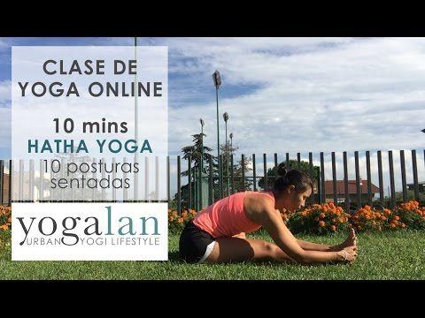 10 mins clase de Hatha yoga- posturas sentadas