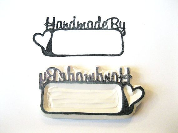 Hand Carved Rubber Stamp, Words Handmade By Stamp