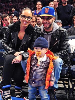 Alicia Keys and Swizz Beatz with their son Egypt.