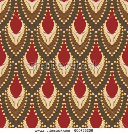 Background in Art Deco style with feathers 3 #vectorpattern #patterndesign #seamlesspattern