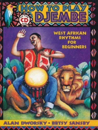 How to Play Djembe - This book/CD set is a complete, step-by-step, user friendly course on how to play djembe. Right from the start, in addition to learning how to make all the basic strokes, you'll be learning interlocking parts for some of the most popular West African rhythms; Kuku, Djole, Kassa, Madan, Suku, Sunguru Bani and Thiba. #Djembe #Lessons