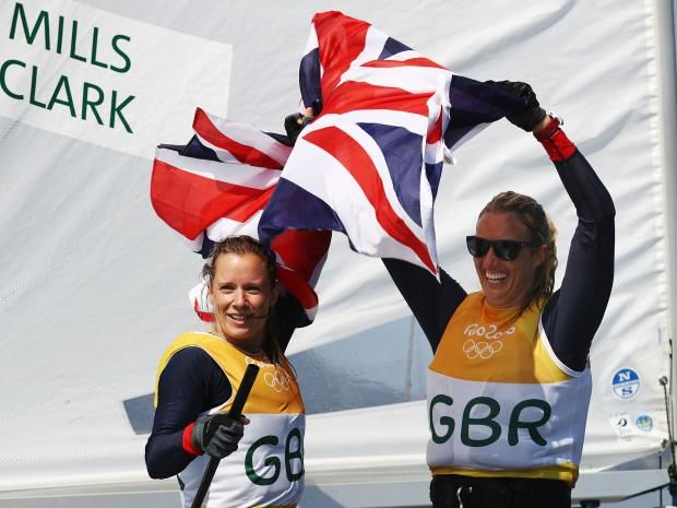 Great Britain's Hannah Mills and Saskia Clark have finally clinched gold in the women's 470 sailing class. The pair, who only needed to cross the finish line to guarantee gold, were forced to wait for their coronation after the final regatta was postponed on Wednesday due to a lack of wind. Mills and Clark's gold is Team GB's 21st of the Rio Olympic Games and follows Giles Scott's triumph in the Finn sailing class. More to follow...