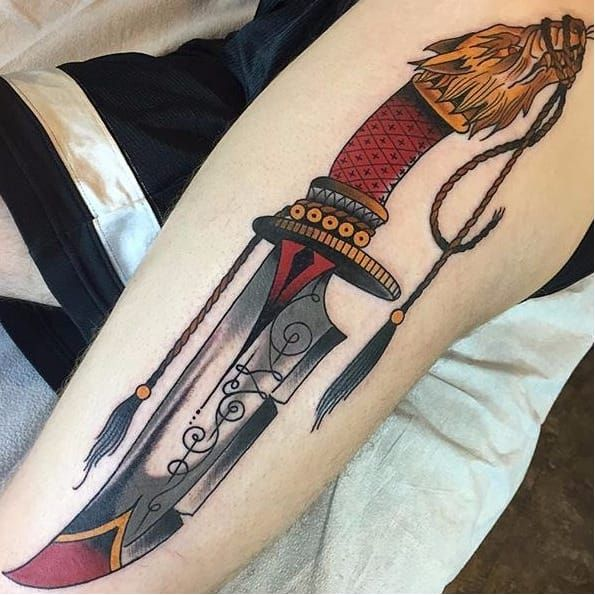 17+ Best Ideas About Knife Tattoo On Pinterest
