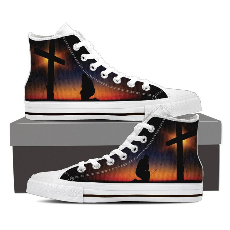 Jesus Cross High Top Custom Printed Shoes – My Shopn