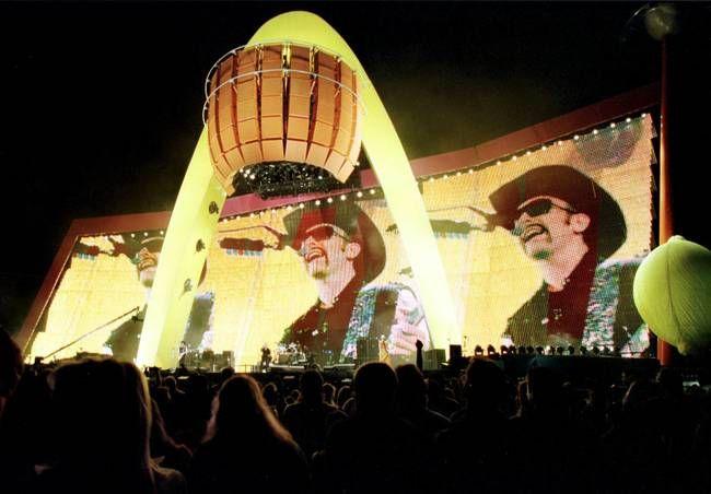 U2's Popmart Stage at Sam Boyd Stadium, Las Vegas in 1997