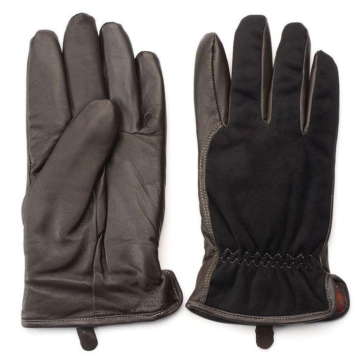 Men's Woolrich Faux-Suede Thinsulate Gloves, Size: Medium, Brown