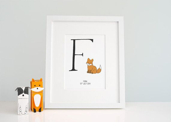 Custom Baby Room Letters Baby Zoo Animals Alphabet Letter