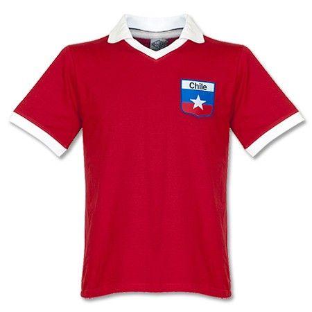 Camiseta Retro de Chile Local Retake