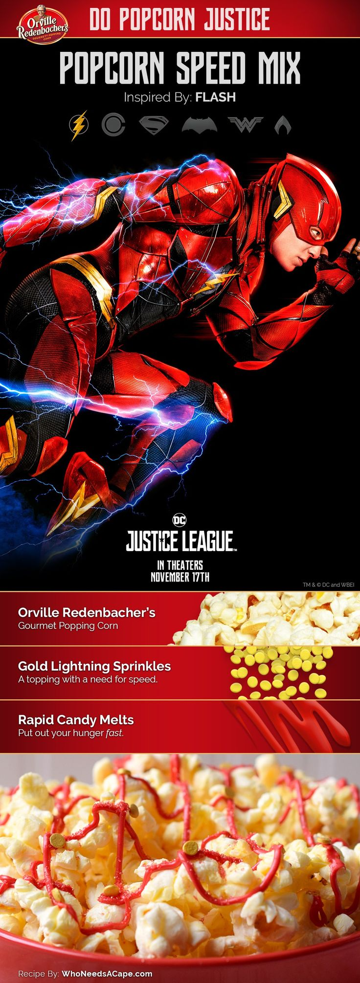 Popcorn Speed Mix: inspired by Flash #orvillepopcornjusticesweepstakes