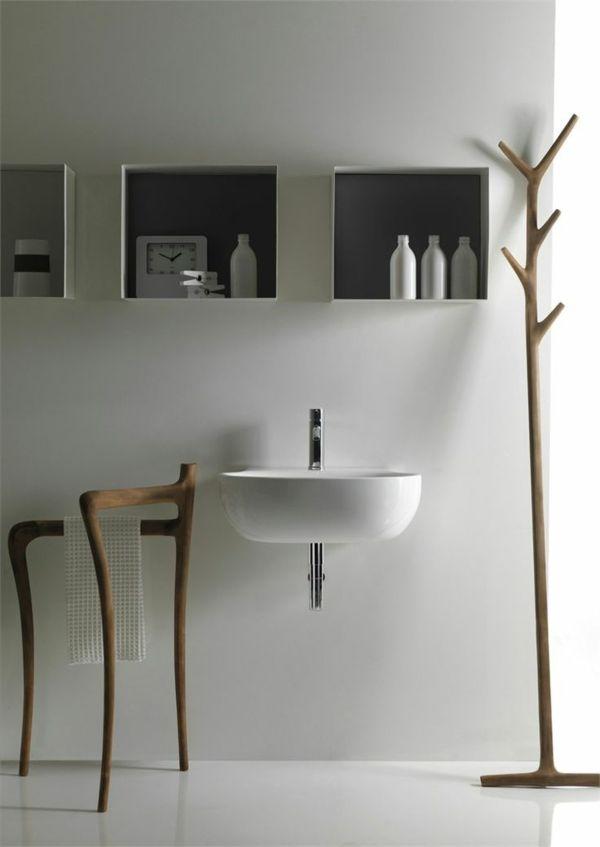 Handtuchhalter aus Holz tolle Modelle fürs Badezimmer