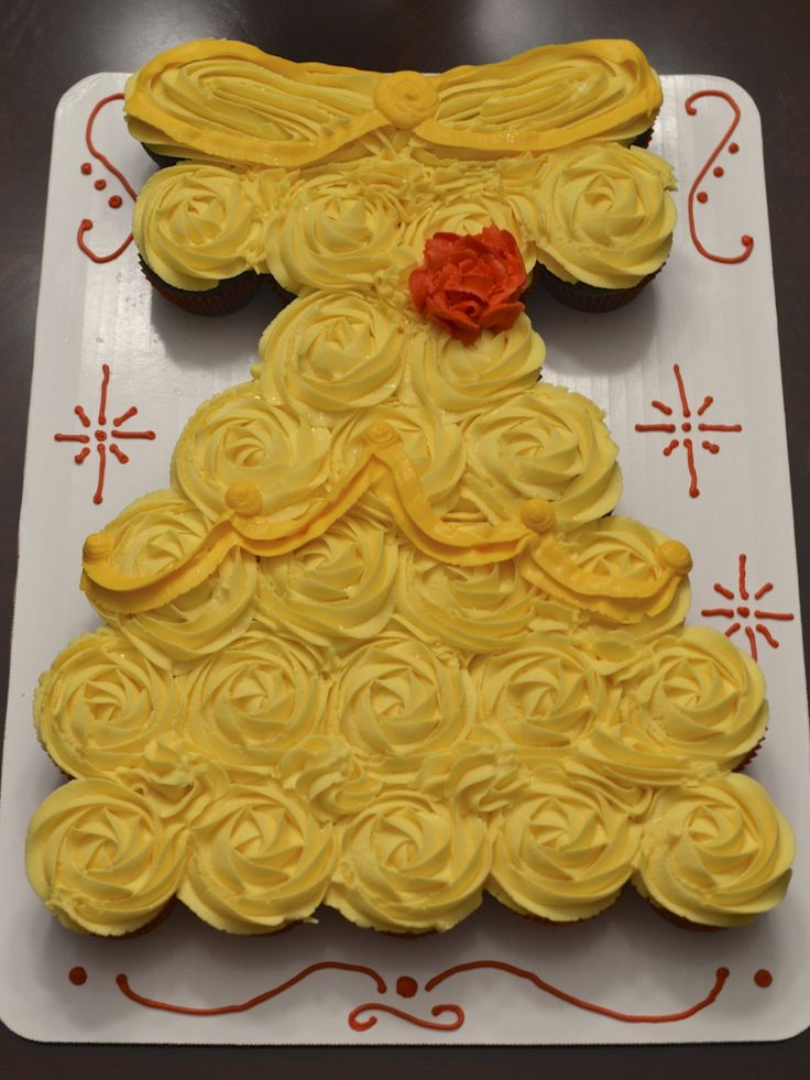 Princess Belle cupcake dress from Cakes by Christy
