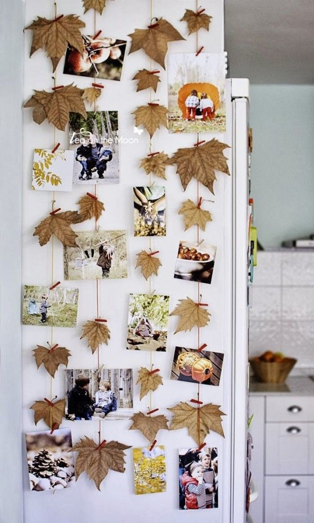 what to do with leaves and pictures? Maybe this can be a nice idea! (from the site welke.nl)