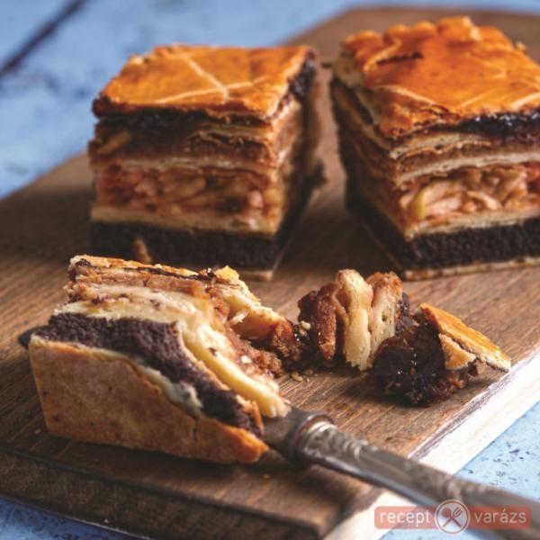 Flódni - Minden jó benne van: alma, mák, lekvár és persze egy kis csoki is! http://www.receptvarazs.hu/receptek/recept/flodni_recept