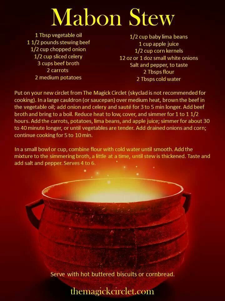 Mabon Stew.. lovely to warm you in the cool of evening.