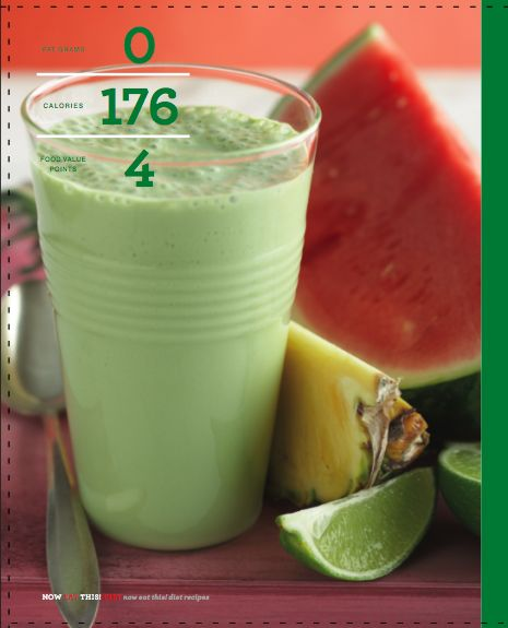 Melon green smoothie. if it involves watermelon and pineapple I'm in. except leave out the green tea and add spinach :D