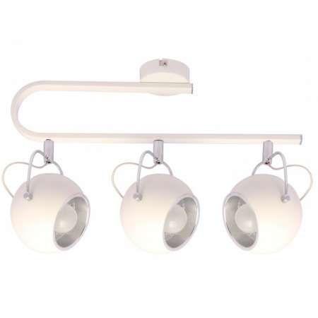 Plafon LAMPA sufitowa LOBO KR117A/3S metalowa BELKA oprawa SPOT reflektor kule ball biały