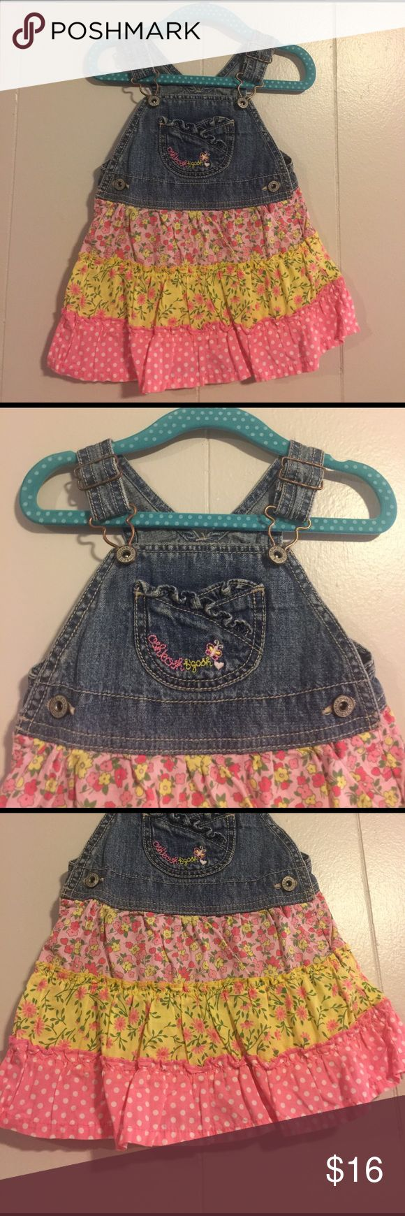 🌸🌺Adorable Osh Kosh B'gosh overall dress 🌺🌸 Great condition. No rips stains or tears. 📚🖍✏️ALL PROCEEDS GOT TO SAVING FOR PRIVATE PRESCHOOL EDUCATION📚✏️🖍 Osh Kosh Dresses Casual