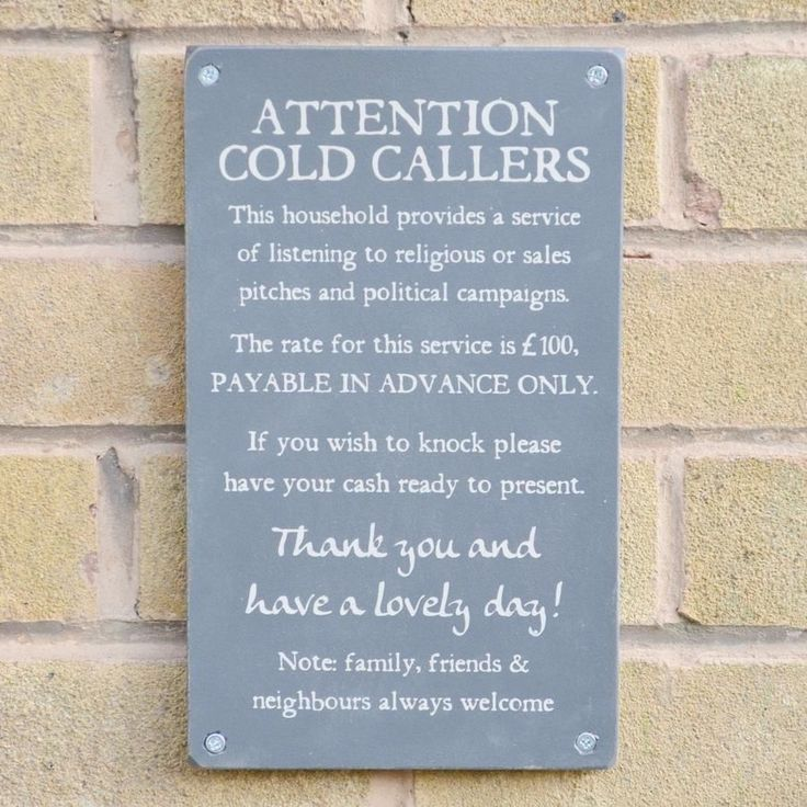 Wooden Cold Callers house sign, Slate Grey with Ancient Artefact text