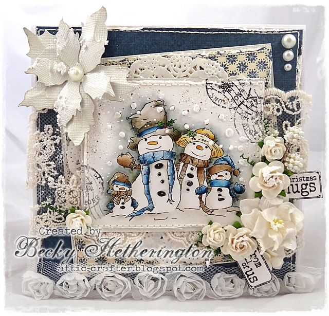 Live & Love Crafts' Inspiration and Challenge Blog: Christmas Hugs From All Of Us.