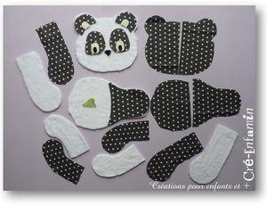 doudou panda avec tuto | Projets à essayer | Pinterest | Pandas, Tuto Doudou and Couture