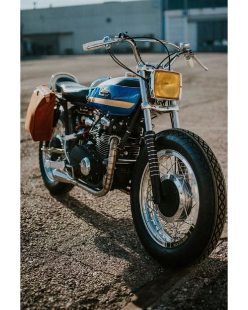 "1975 kawasaki z400 Brat Style ""Outlaw 398"" Marco Pucciarelli - Uniquecyclewors #motorcycles #bratstyle #motos 