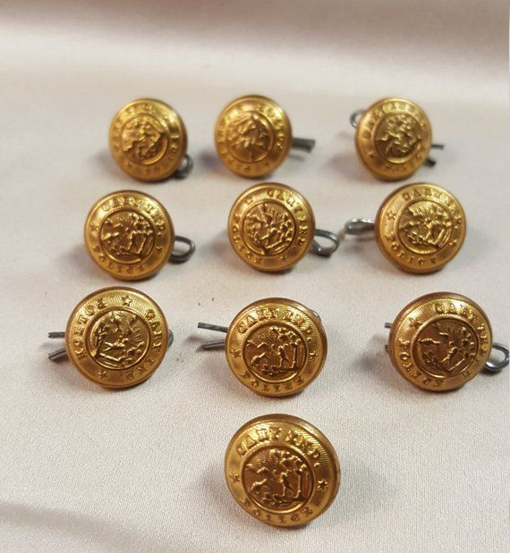 5//8 inch 6 Horse Buttons Metal Shank Buttons 15mm Equestrian Clothing Buttons