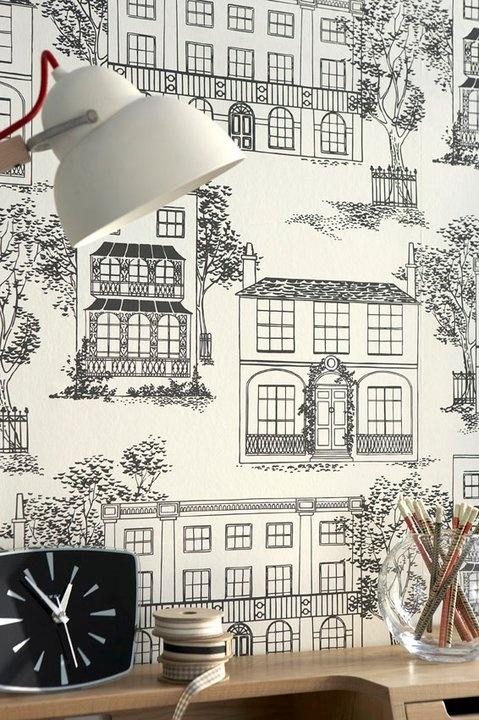 Hampstead - Ink. (c.1949) by Little Greene
