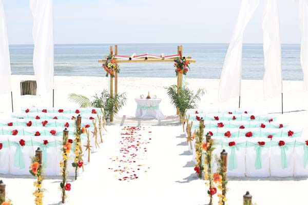 Gulf Coast Beach Wedding and reception packages for Orange Beach and Gulf Shores, Alabama. Affordable beach wedding packages, all inclusive and custom.