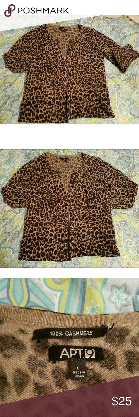Cashmere Sweater Leopard print. Apt. 9 Sweaters Cardigans