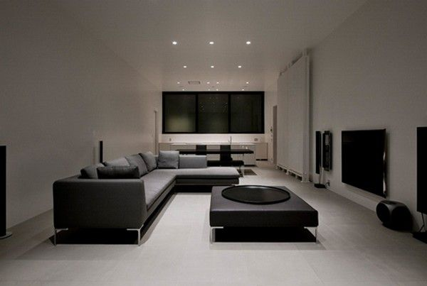 Cool minimalist gaming room